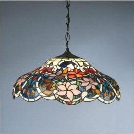 64325 Sullivan 1 Light Tiffany Ceiling Pendant