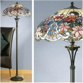 64323 Sullivan 2 Light Tiffany Floor Lamp