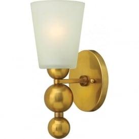 Hinkley HK/ZELDA1-VS Zelda 1 Light Wall Light Vintage Brass