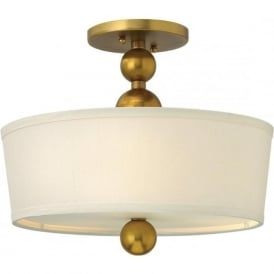 Hinkley HK/ZELDA/SF-VS Zelda 3 Light Ceiling Light Vintage Brass