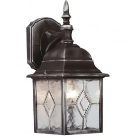 S5901 Traditional Wall Lantern Black/Silver IP23