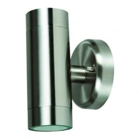 S6831 Modern 2 Light Outdoor Wall Light Stainless Steel IP44