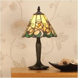 64196 Jamelia 1 Light Tiffany Small Table Lamp