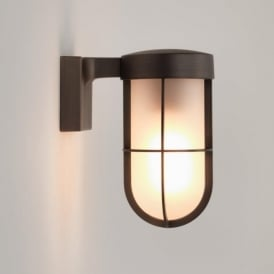 7849 Cabin Frosted Outdoor Wall Light Bronze IP44