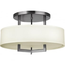 Hinkley HK/HAMPTON/SF Hampton 3 Light Ceiling Light Antique Nickel