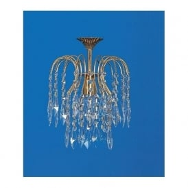 ST02000/20/01/G Shower Heritage 1 Light Crystal Pendant Gold