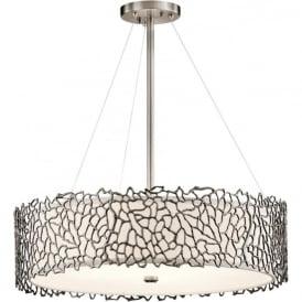 Kichler KL/SILCORAL/P/B Silver Coral 4 Light Ceiling Light Pewter