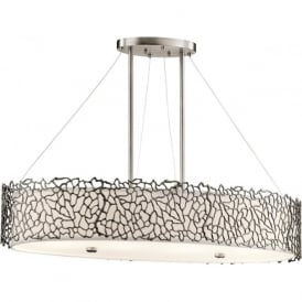 Kichler KL/SILCORAL/ISLE Silver Coral 4 Light Ceiling Light Pewter