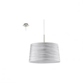94307 Fonsea 1 Light Ceiling Pendant White Silver