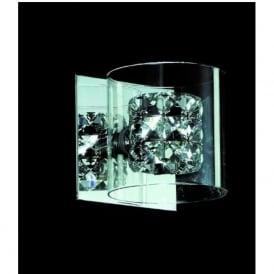 CFH211171/01/WB/CH Sonja 1 Light Crystal Wall Light Chrome