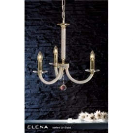 IL30373 Elena 3 Light Crystal Ceiling Light French Gold