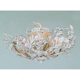 SF05316/AW Florence 6 Light Ceiling Light Antique White