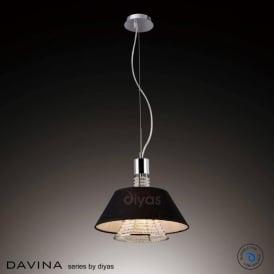 IL30042/BL Davina 2 Light Ceiling Pendant Polished Chrome