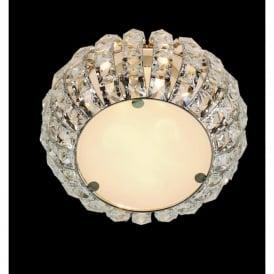 CFH905262/03/PL/CH Rome 3 Light Crystal Flush Ceiling Light Polished Chrome