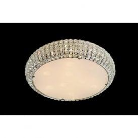 CFH905262/06/PL/CH Rome 6 Light Crystal Flush Ceiling Light Polished Chrome