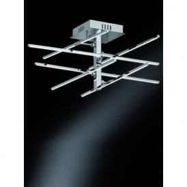 FL2354/6 Styx LED Semi-Flush Ceiling Light Polished Chrome