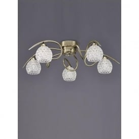 FL2348/5 Springa 5 Light Semi-Flush Ceiling Light Bronze