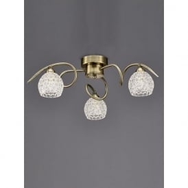 FL2348/3 Springa 3 Light Semi-Flush Ceiling Light Bronze