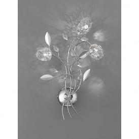 FL2210/3 Nebula 3 Light Crystal Wall Light Polished Chrome