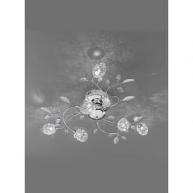 FL2210/6 Nebula 6 Light Crystal Semi-Flush Ceiling Light Polished Chrome