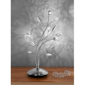 TL888 Nebula 3 Light Crystal Table Lamp Polished Chrome