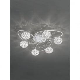 FL2325/6 Spirelle 6 Light Semi-Flush Ceiling Light Polished Chrome
