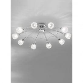 FL2206/10 Chloris 10 Light Semi-flush Ceiling Light Chrome