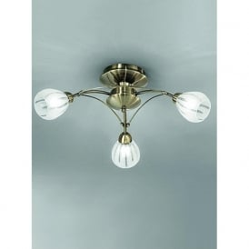 FL2207/3 Chloris 3 Light Semi-flush Ceiling Light Bronze