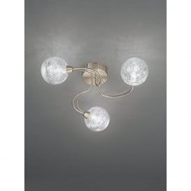FL2328/3 Gyro 3 Light Semi-flush Ceiling Light Bronze