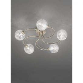 FL2328/5 Gyro 5 Light Semi-flush Ceiling Light Bronze