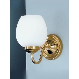 COB11708/715 Alba 1 Light Wall Light Polished Brass