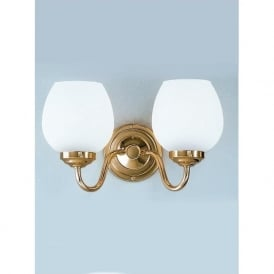COB22708/715 Alba 2 Light Wall Light Polished Brass