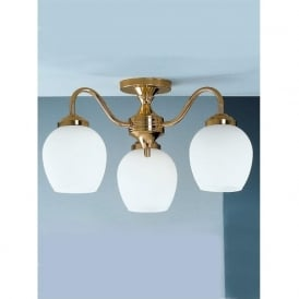 CO3709/715 Alba 3 Light Ceiling Light Polished Brass
