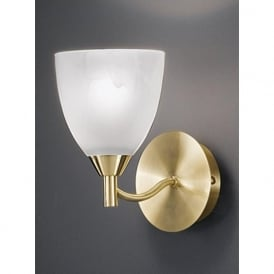 FL2200/1 Emmy 1 Light Wall Light Satin Brass