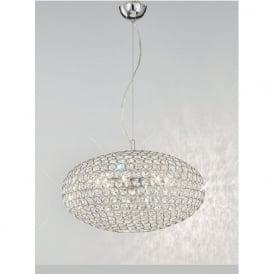 FL2273/6 Marquesa 6 Light Crystal Ceiling Pendant Polished Chrome