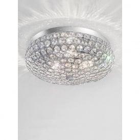 FL2275/3 Marquesa 3 Light Crystal Flush Ceiling Light Polished Chrome