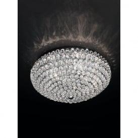 FL2275/6 Marquesa 6 Light Crystal Flush Ceiling Light Polished Chrome