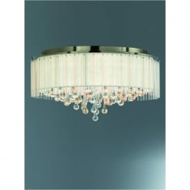 FL2345/8 Ambience 8 Light Semi-flush Ceiling Light Bronze
