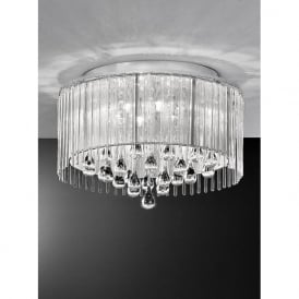 FL2160/6 Spirit 6 Light Crystal Ceiling Light Polished Chrome
