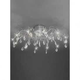 FL2234/13 Chantilly 13 Light Ceiling Light Polished Chrome