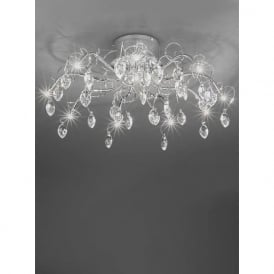 FL2234/10 Chantilly 10 Light Ceiling Light Polished Chrome
