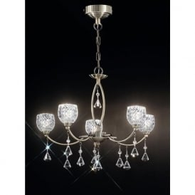 FL2293/5 Sherrie 5 Light Crystal Ceiling Light Bronze