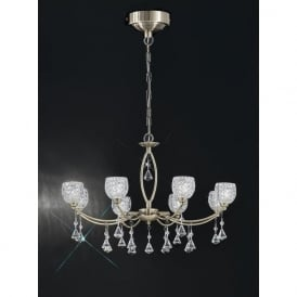 FL2293/8 Sherrie 8 Light Crystal Ceiling Light Bronze