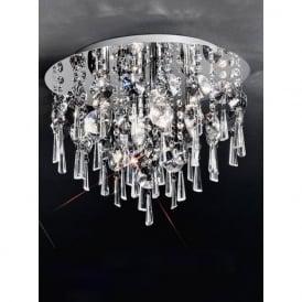 CF5716 Jazzy 4 Light Crystal Semi-flush Ceiling Light Polished Chrome