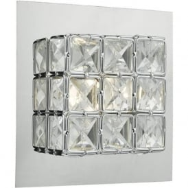 IMO0750 Imogen 1 Light LED Switched Wall Light Polished Chrome