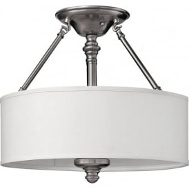Hinkley HK/SUSSEX/SF Sussex 3 Light Ceiling Light Brushed Nickel