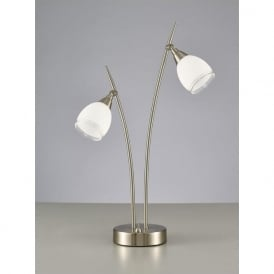 TL983 Lutina 2 Light Table Lamp Satin Nickel