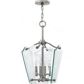 Hinkley HK/WINGATE/P/S Wingate 4 Light Pendant Lantern Polished Antique Nickel