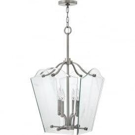 Hinkley HK/WINGATE/P/M Wingate 4 Light Pendant Lantern Polished Antique Nickel