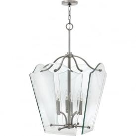 Hinkley HK/WINGATE/P/L Wingate 6 Light Pendant Lantern Polished Antique Nickel